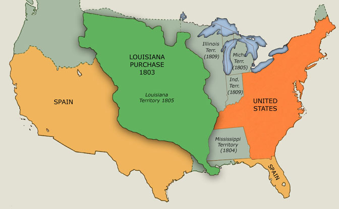Political Boundaries of North America in the Era of the Louisiana Purchase