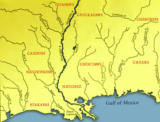 Main Indian Groups in Contact with the French in the Mississippi Valley